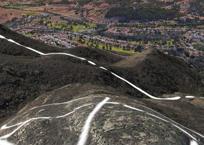 View from other proposed ridge line lots looking down on Rancho San Pasqual