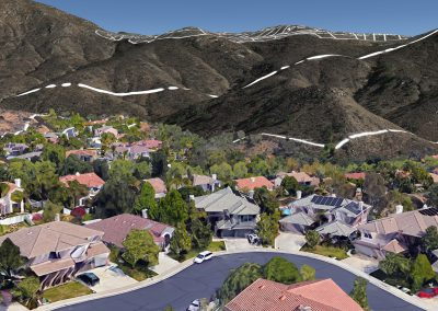 View from Willow Creek Place looking up at proposed ridgeline lots
